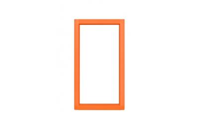 2N Helios IP Safety - металлическая рамка (оранжевого цвета)