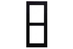2N® Helios IP Verso-Рамка, 2 модуля. Черное исполнение.