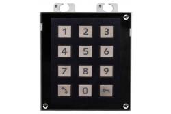 2N® Helios IP Verso - модуль клавиатуры. Черное исполнение.